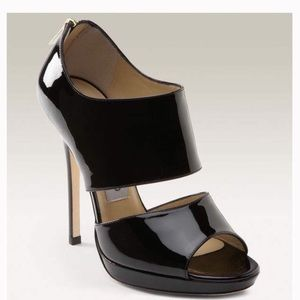 Jimmy Choo Private Black Patent Leather Heels EU36